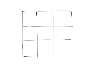 the check in grid - it looks like a tic tac toe board.