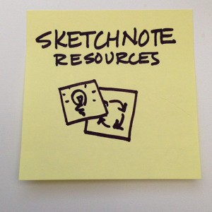 sticky note that says Sketchnote Resources