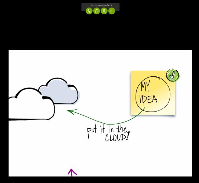Desktop view of Join.Me whiteboard