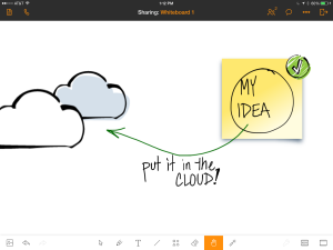 detail of Join.Me's whiteboard on iPad